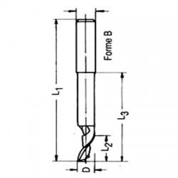Fraises de découpe et d'entaillage en acier HS forme B